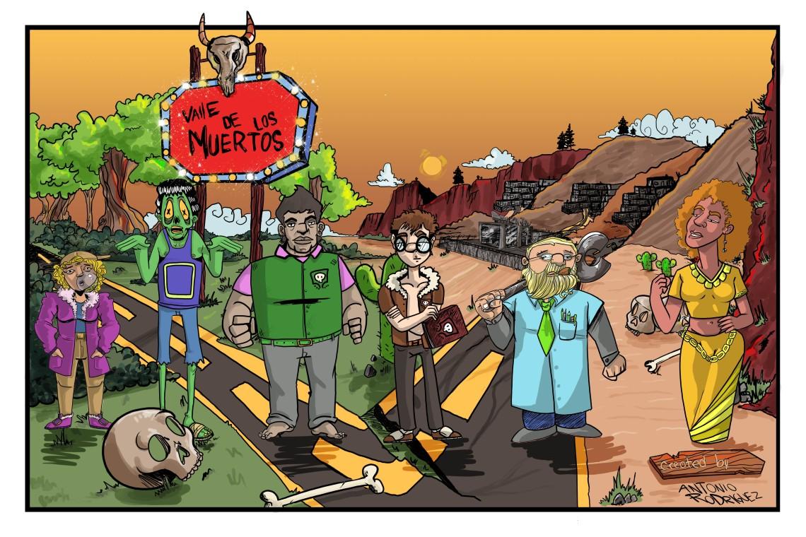 Valle de Los Muertos Line Up Poster
